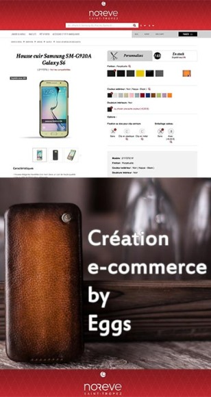Site e-commerce réalisé sous prestashop